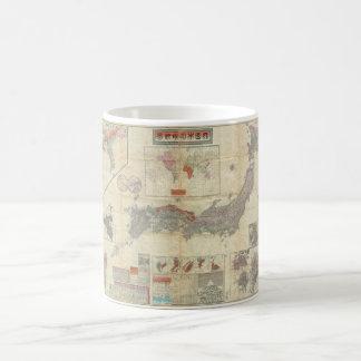1895 Meiji 28 Japanese Map of Imperial Japan Coffee Mug