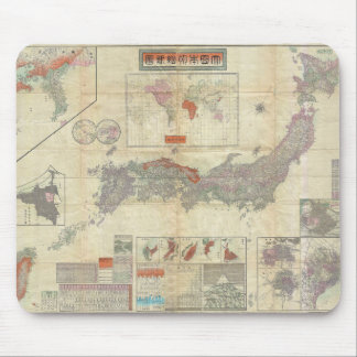 1895 Meiji 28 Japanese Map of Imperial Japan Mouse Pad