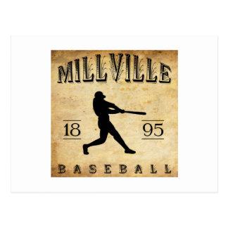 1895 Millville New Jersey Baseball Postcard