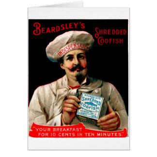 1895 Shredded Codfish Breakfast Card