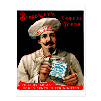 1895 Shredded Codfish Breakfast Postcard