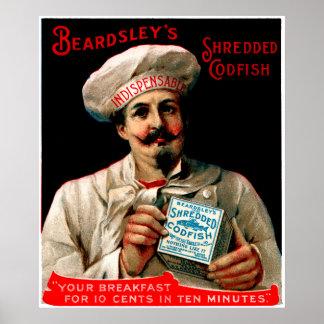 1895 Shredded Codfish Breakfast Poster