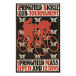 1895 Springfield Massachusetts Bicycle Tournament Poster