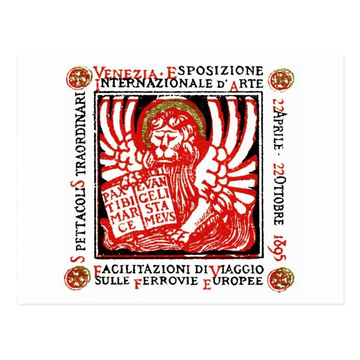 1895 Venice Art Poster Postcard
