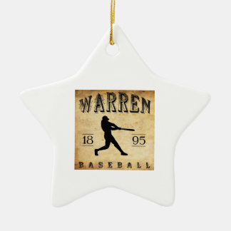 1895 Warren Pennsylvania Baseball Ceramic Ornament