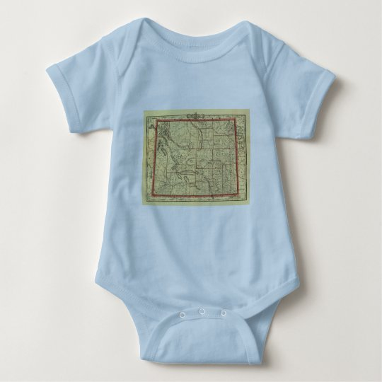 1895 Wyoming Map Baby Bodysuit