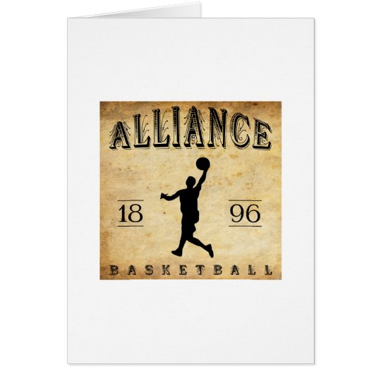 1896 Alliance Ohio Basketball Card