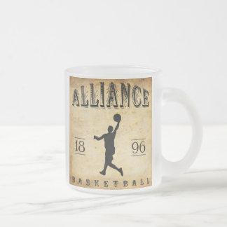 1896 Alliance Ohio Basketball Frosted Glass Coffee Mug