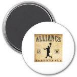 1896 Alliance Ohio Basketball Magnet