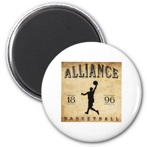 1896 Alliance Ohio Basketball Refrigerator Magnets