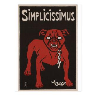 1896 anuncio negro y rojo del vintage de Simplicty Postal
