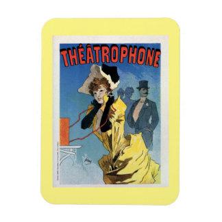 1896 Art nouveau ad Theatrophone Magnet