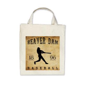 1896 Beaver Dam Wisconsin Baseball Tote Bags