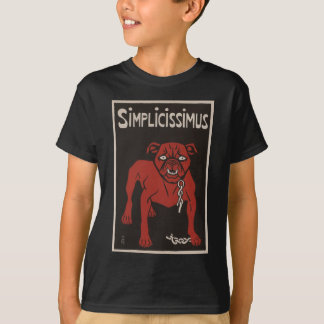 1896 Black and Red Bulldog Simplicty Vintage Ad T-Shirt