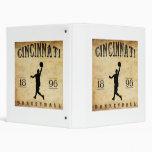 1896 Cincinnati Ohio Basketball 3 Ring Binder