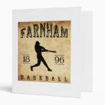 1896 Farnham Quebec Canada Baseball 3 Ring Binders