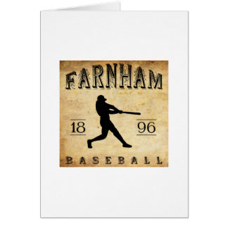 1896 Farnham Quebec Canada Baseball Card