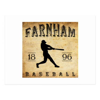 1896 Farnham Quebec Canada Baseball Postcard