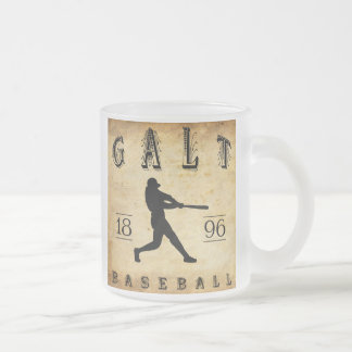 1896 Galt Ontario Canada Baseball Frosted Glass Coffee Mug