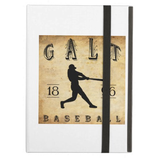 1896 Galt Ontario Canada Baseball iPad Cover