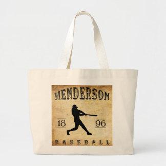 1896 Henderson Kentucky Baseball Jumbo Tote Bag