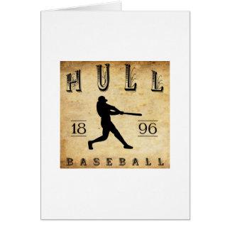 1896 Hull Massachusetts Baseball Stationery Note Card