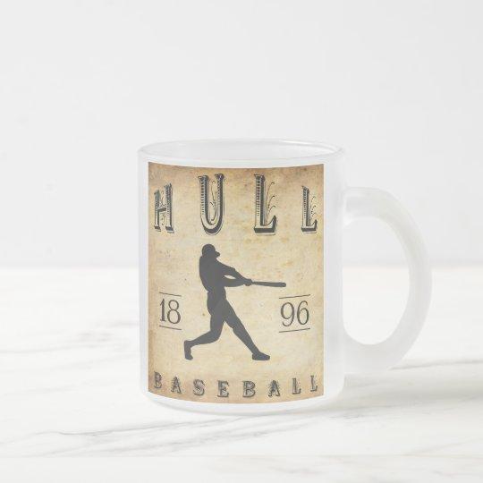 1896 Hull Massachusetts Baseball Frosted Glass Coffee Mug