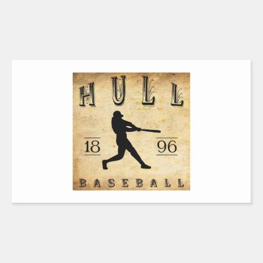 1896 Hull Massachusetts Baseball Rectangular Sticker