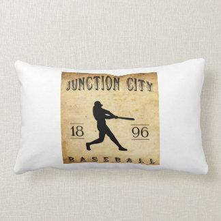 1896 Junction City Kansas Baseball Pillow