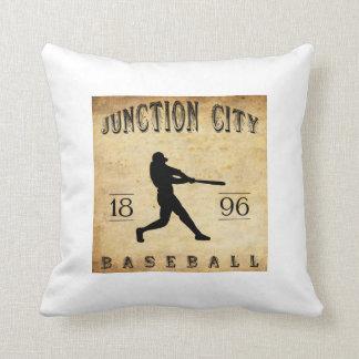 1896 Junction City Kansas Baseball Throw Pillow