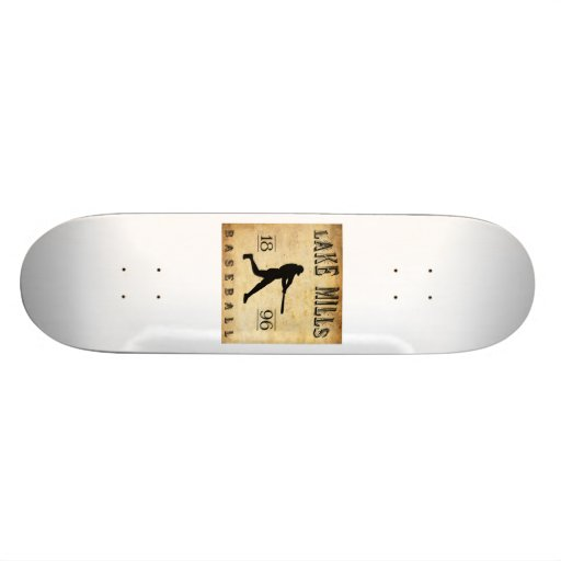 1896 Lake Mills Wisconsin Baseball Skateboard