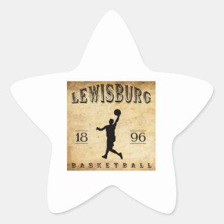 1896 Lewisburg Pennsylvania Basketball Star Sticker