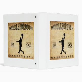 1896 Middleborough Massachusetts Basketball 3 Ring Binder