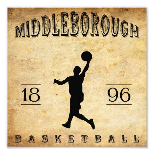 1896 Middleborough Massachusetts Basketball Photographic Print