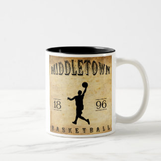 1896 Middletown Connecticut Basketball Two-Tone Coffee Mug