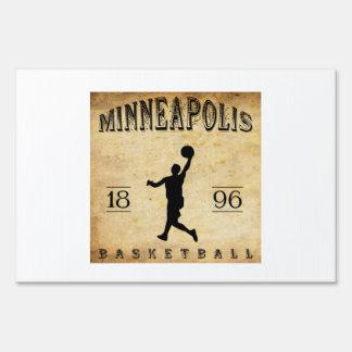 1896 Minneapolis Minnesota Basketball Lawn Sign