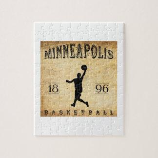 1896 Minneapolis Minnesota Basketball Jigsaw Puzzles