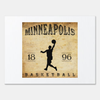 1896 Minneapolis Minnesota Basketball Signs