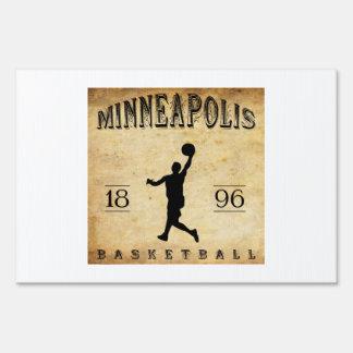 1896 Minneapolis Minnesota Basketball Yard Sign