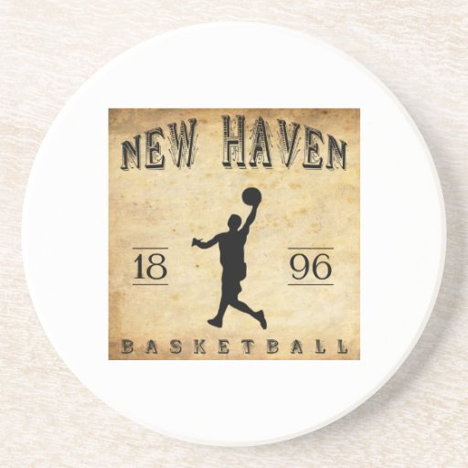 1896 New Haven Connecticut Basketball Drink Coaster