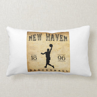 1896 New Haven Connecticut Basketball Pillow