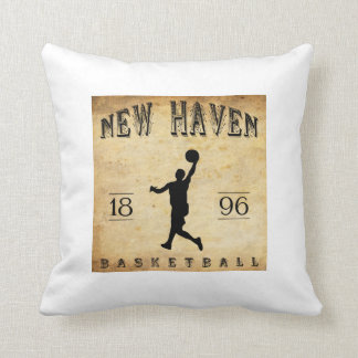 1896 New Haven Connecticut Basketball Throw Pillow