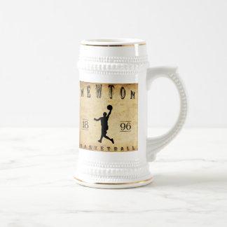 1896 Newton Massachusetts Basketball Beer Stein