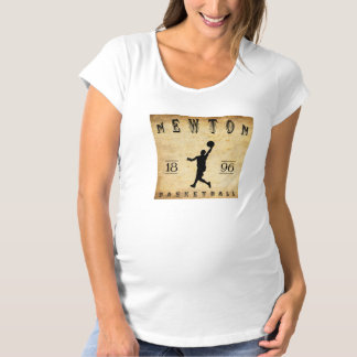 1896 Newton Massachusetts Basketball Maternity T-Shirt