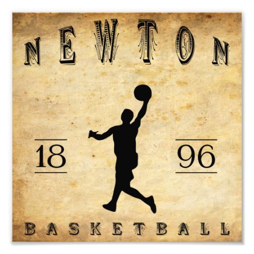 1896 Newton Massachusetts Basketball Photo Art
