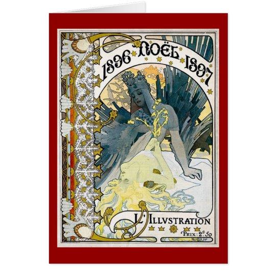 1896 NOEL 1897 Alphonse Maria Mucha Card