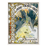 1896 NOEL 1897 Alphonse Maria Mucha Post Cards