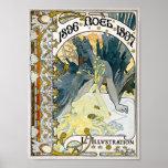 1896 NOEL 1897 Alphonse Maria Mucha Poster
