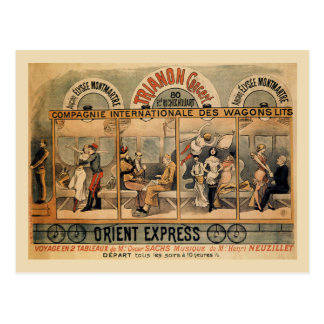 1896 Orient Express musical revue Paris Postcard
