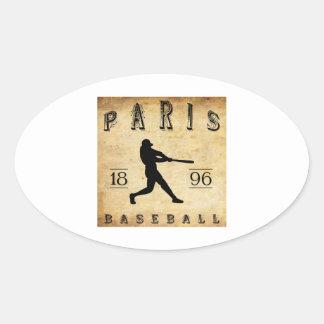1896 Paris Kentucky Baseball Oval Sticker